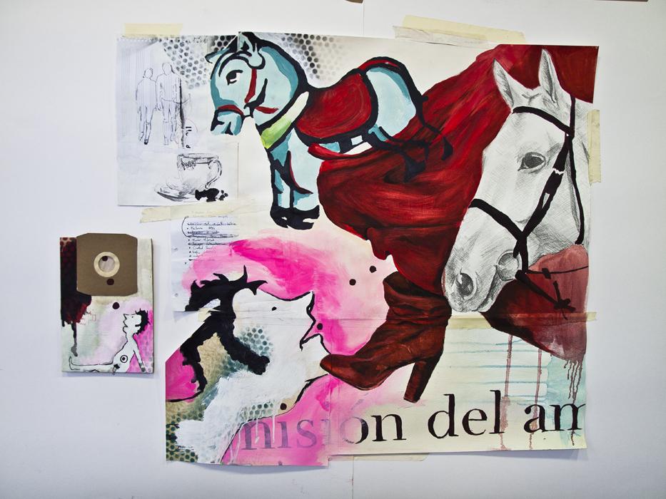 """""""SU MISIÓN"""". 114X140. MIXTA/PAPEL. 2012"""