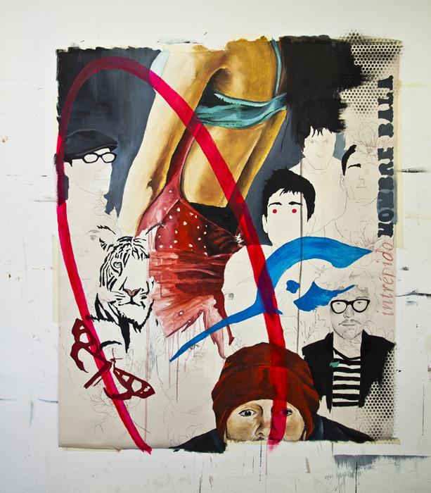 """""""INTRÉPIDO HOMBRE BALA"""". MIXTA/PAPEL. 2012"""